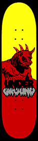 Horned Monster Yellow Red